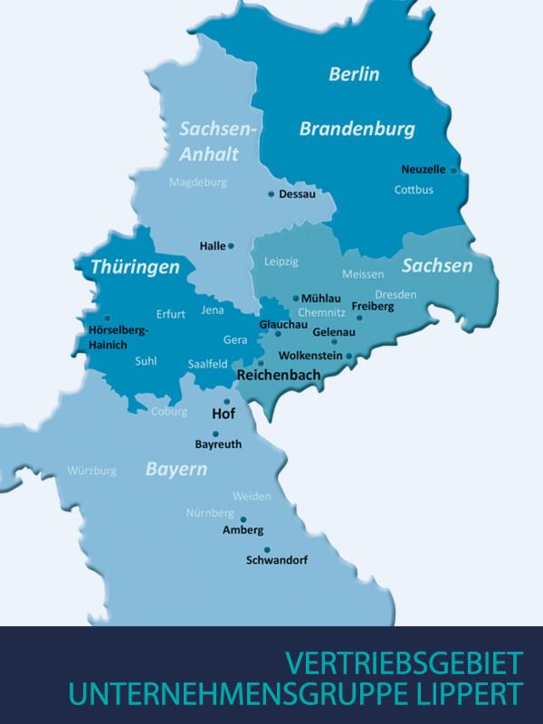 Vertriebsgebiet - Lippert Getränkefachgroßhandel & Logistik GmbH